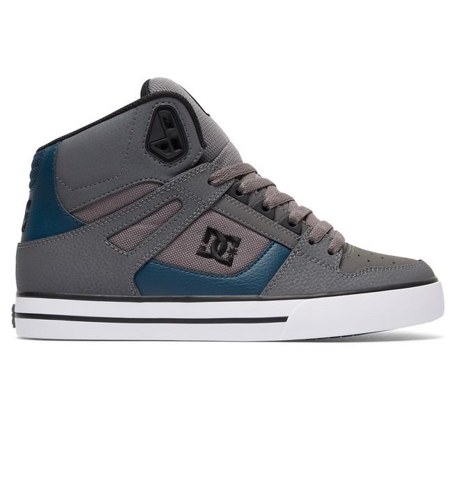 0 Men's Spartan WC High-Top Shoes Grey 302523 DC Shoes