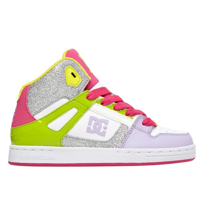 0 Kid's 8-16 Rebound High-Top Shoes  302676B DC Shoes