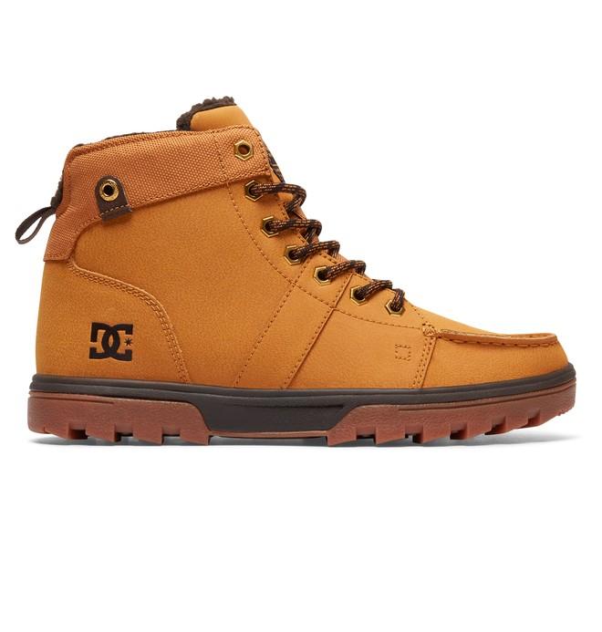 0 Men's Woodland Lace-Up Boots Beige 303241 DC Shoes