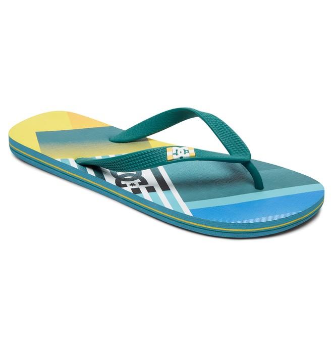 0 Spray Graffik - Teenslippers Blue 303276 DC Shoes