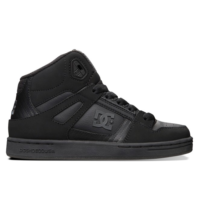 0 Kid's 8-16 Rebound SE High-Top Shoes  303310B DC Shoes
