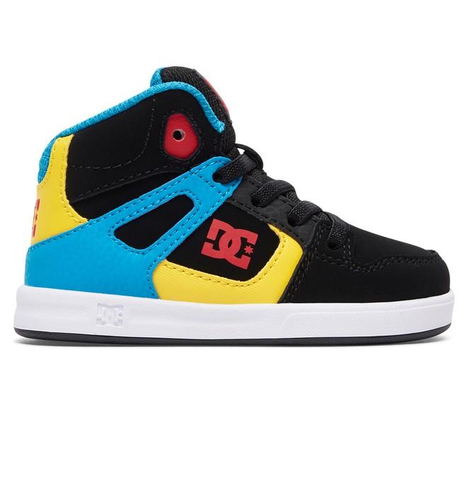 0 Rebound UL - Zapatillas de Media Altura con Cordones Elásticos para Bebés Naranja 320167 DC Shoes