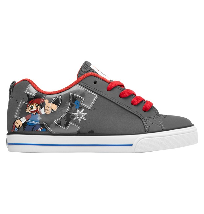 0 Kid's Wild Grinders Court Graffik Vulc Shoes  320407A DC Shoes