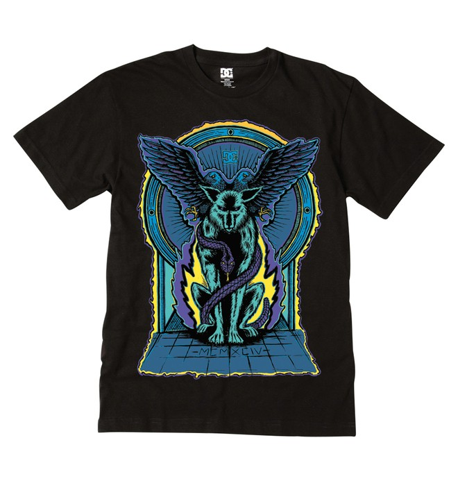 0 Men's Destroyed Youth Tee  51200561 DC Shoes