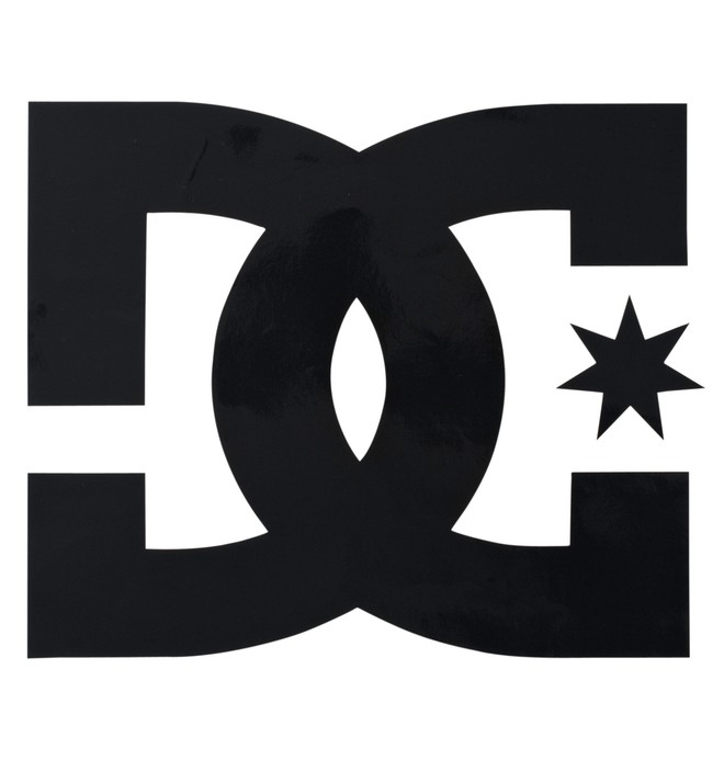 "0 Star Vinyl 4 "" Stickers  52380001 DC Shoes"