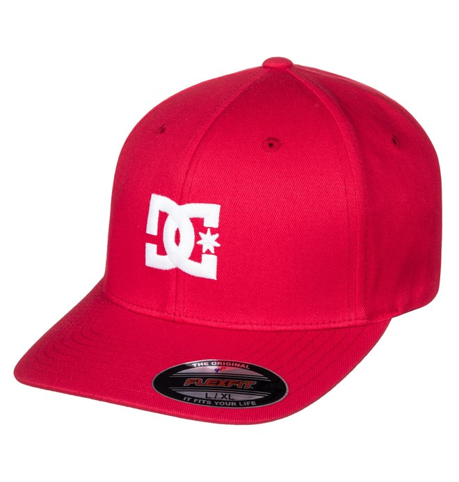 0 Men's Cap Star 2 Flexfit Hat Red 55300096 DC Shoes
