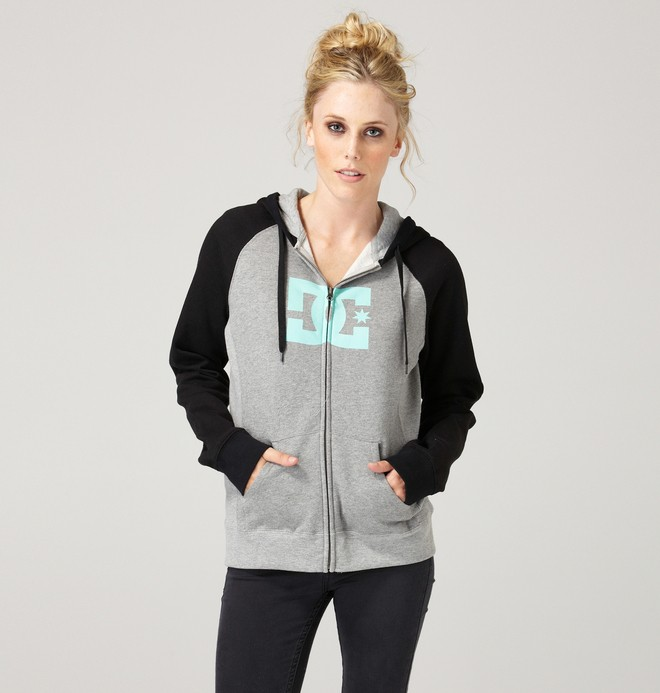 0 Women's Star Raglan Zip Hoodie  61260062 DC Shoes