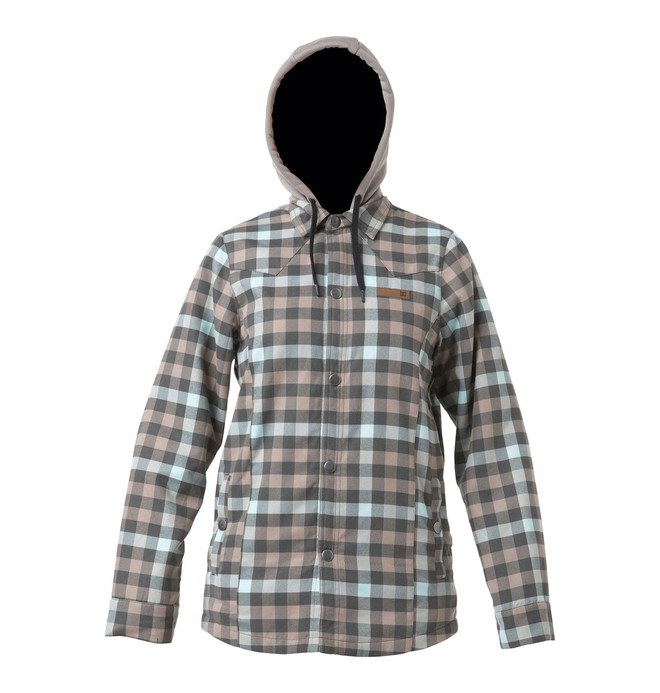 0 Women's Woodbury Flannel Hoodie  64460027 DC Shoes