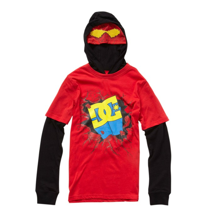 0 Boy's Super DC 2-Fer Hooded Tee  71210004 DC Shoes