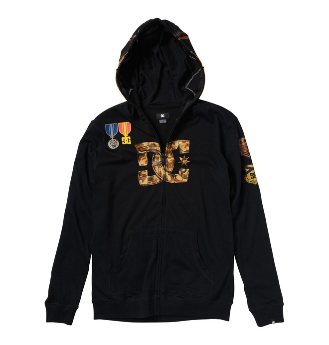 0 Boy's Sargeant Zip Up Hooded Sweatshirt  71830044 DC Shoes