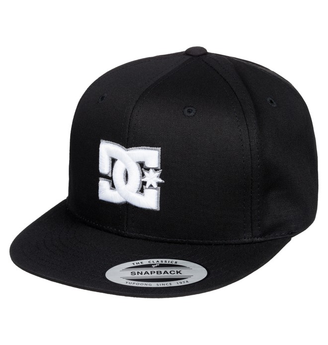 0 Kid's Snappy Snapback Hat Black ADBHA00008 DC Shoes