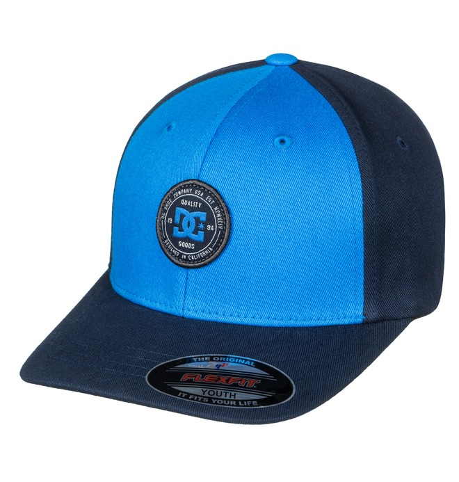 0 Boy's 8-16 Curve Breaker Flexfit Hat Blue ADBHA03062 DC Shoes
