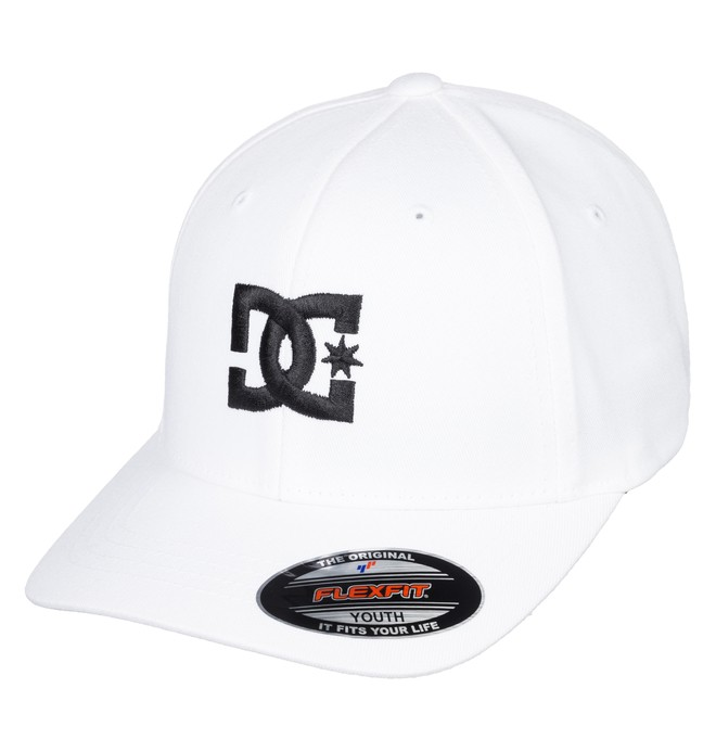 0 Boy's 8-16 Cap Star Flexfit® Hat White ADBHA03095 DC Shoes