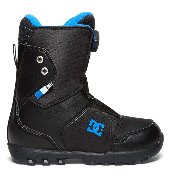 0 Youth Scout - BOA® Snowboard Boots for Boys Black ADBO100004 DC Shoes