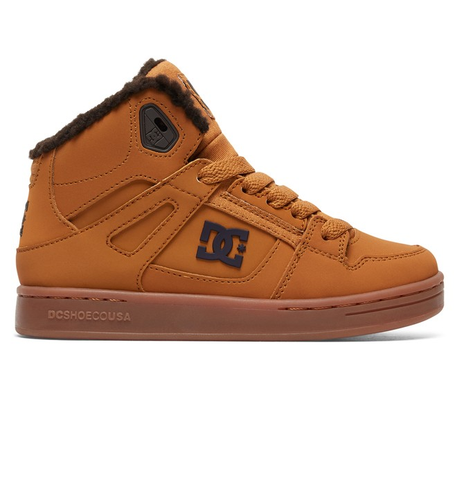 0 Kid's Rebound WNT Winterized High Top Shoes Beige ADBS100075 DC Shoes