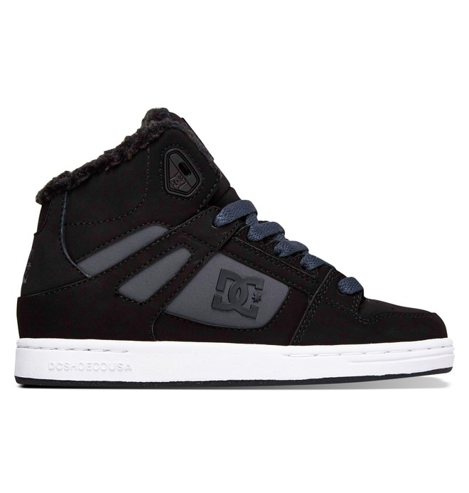 0 Kid's Rebound WNT Winterized High Top Shoes  ADBS100075 DC Shoes