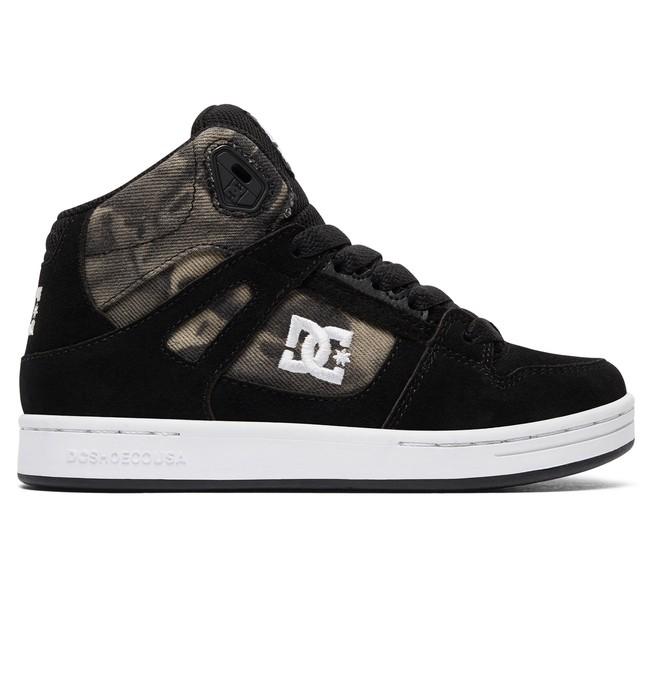 0 Kid's Rebound SE High Top Shoes Black ADBS100204 DC Shoes