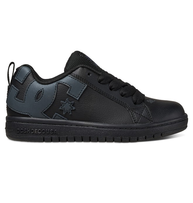 0 Kid's Court Graffik Shoes Black ADBS100207 DC Shoes