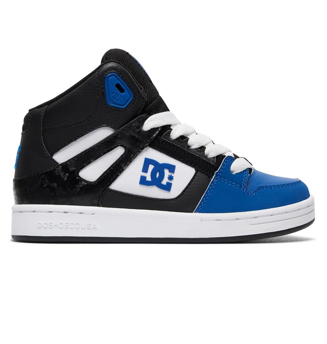 0 Kid's Rebound High Top Shoes Multicolor ADBS100214 DC Shoes