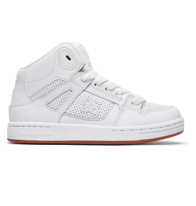 0 Boy's 8-16 Pure High-Top Shoes White ADBS100242 DC Shoes