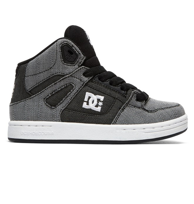0 Kid's Pure TX SE High Top Shoes Grey ADBS100243 DC Shoes