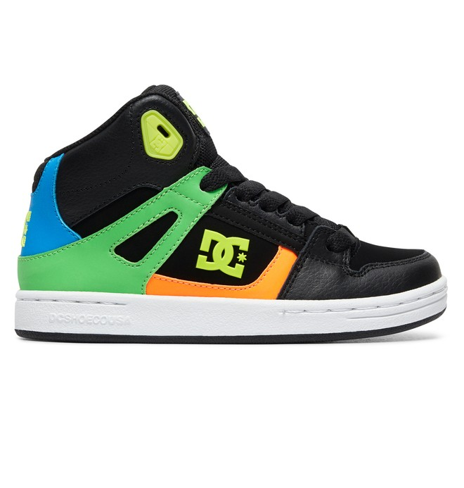 0 Boy's 8-16 Pure High SE High-Top Shoes Black ADBS100244 DC Shoes