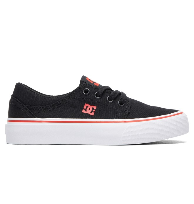 0 Boy's 8-16 Trase TX Shoes Black ADBS300083 DC Shoes