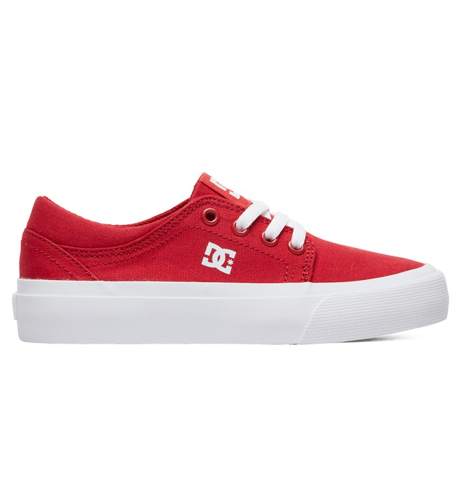 0 Boy's 8-16 Trase TX Shoes Red ADBS300083 DC Shoes