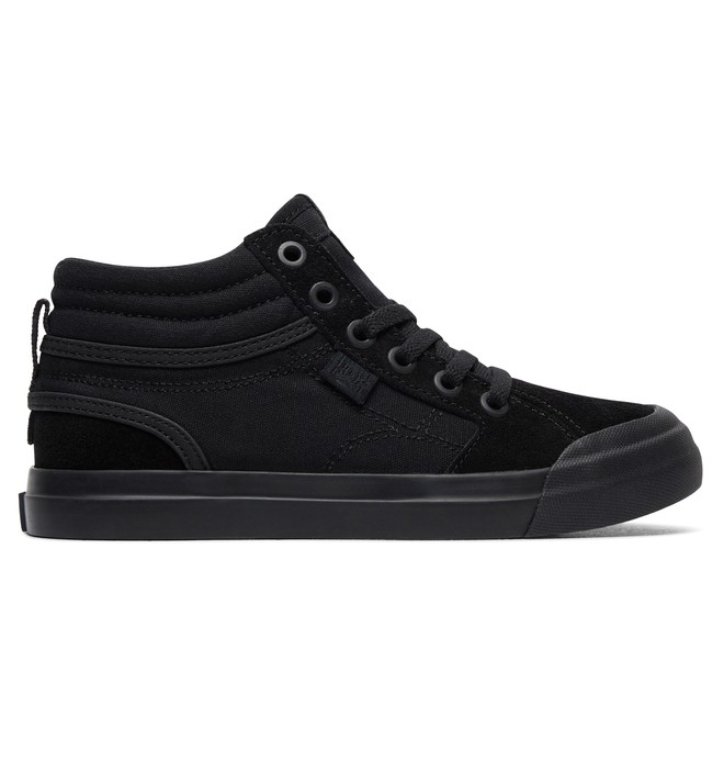 0 Boy's Evan Hi High-Top Shoes Black ADBS300255 DC Shoes
