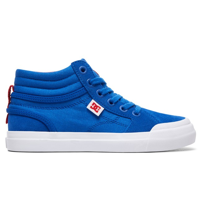 0 Boy's 8-16 Evan Hi High-Top Shoes Blue ADBS300255 DC Shoes