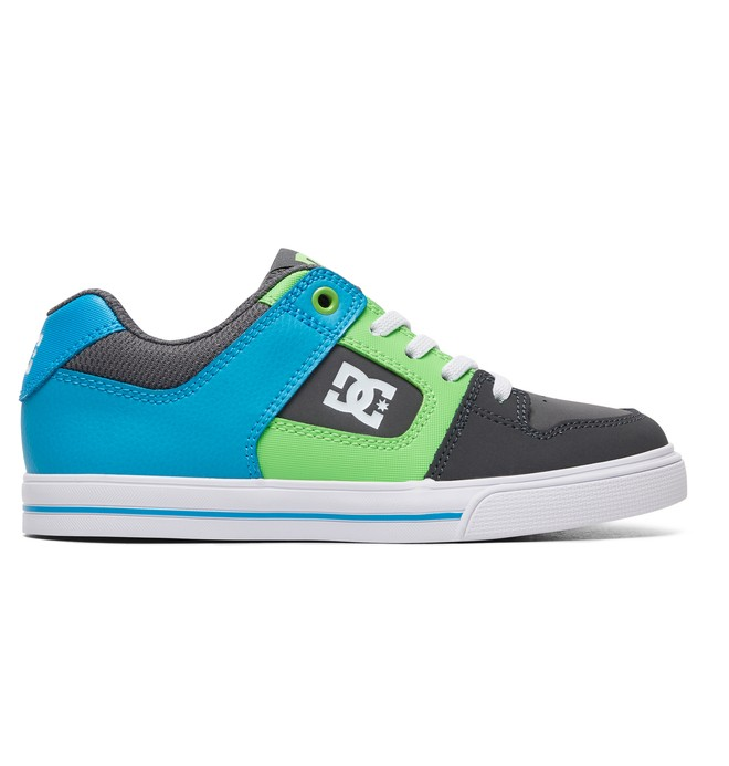 0 Boy's 8-16 Pure Elastic Shoes Grey ADBS300256 DC Shoes