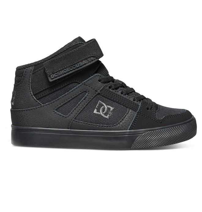 0 Kid's Spartan High EV High Top Shoes Black ADBS300260 DC Shoes
