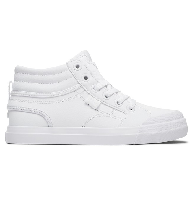 0 Kid's Evan Hi SE High-Top Shoes White ADBS300289 DC Shoes