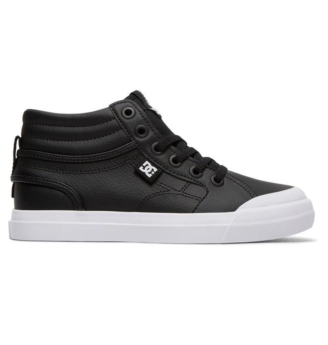 0 Kid's Evan Hi SE Zip High Top Shoes Black ADBS300307 DC Shoes