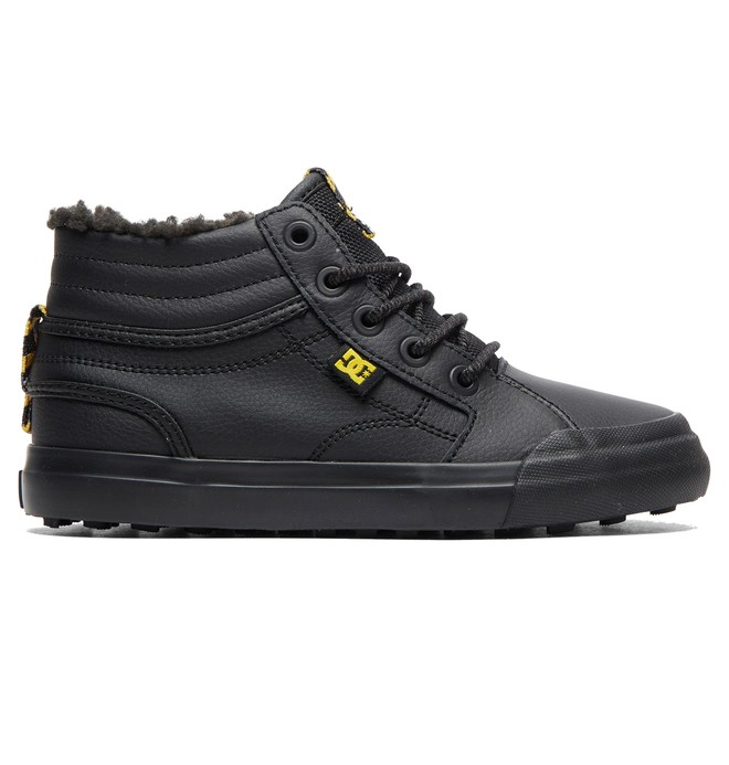 0 Boy's 8-16 Evan Hi WNT High-Top Winter Shoes Black ADBS300314 DC Shoes