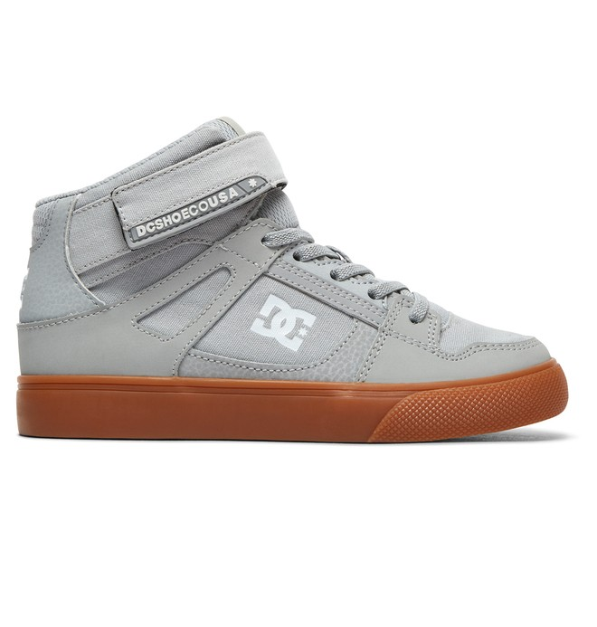 0 Boy's Pure High-Top Shoes Grey ADBS300324 DC Shoes