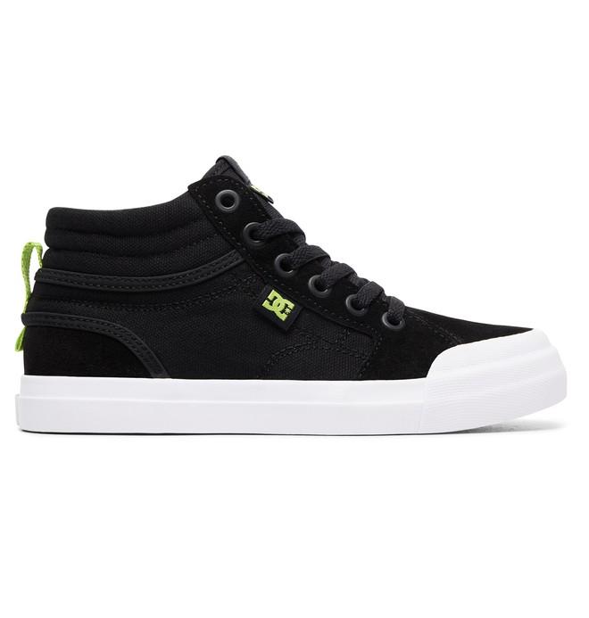 0 Boy's Evan Hi Zip High-Top Shoes Grey ADBS300330 DC Shoes