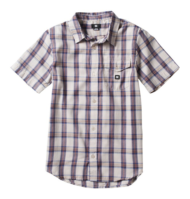 0 Boy's Eschaton Short Sleeve Shirt  ADBWT00002 DC Shoes