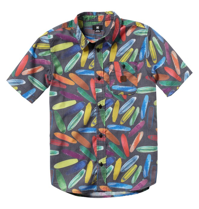 0 Boy's Photo OP Short Sleeve Shirt  ADBWT00004 DC Shoes