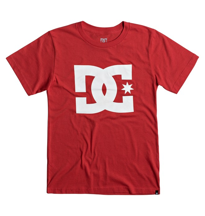 0 Kids DC Stars Tee Red ADBZT03042 DC Shoes