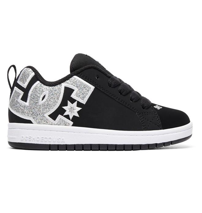 0 Girl's 8-16 Court Graffik SE Shoes Black ADGS100073 DC Shoes