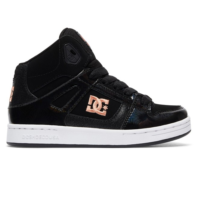 0 Kid's Rebound SE High Top Shoes  ADGS100204 DC Shoes
