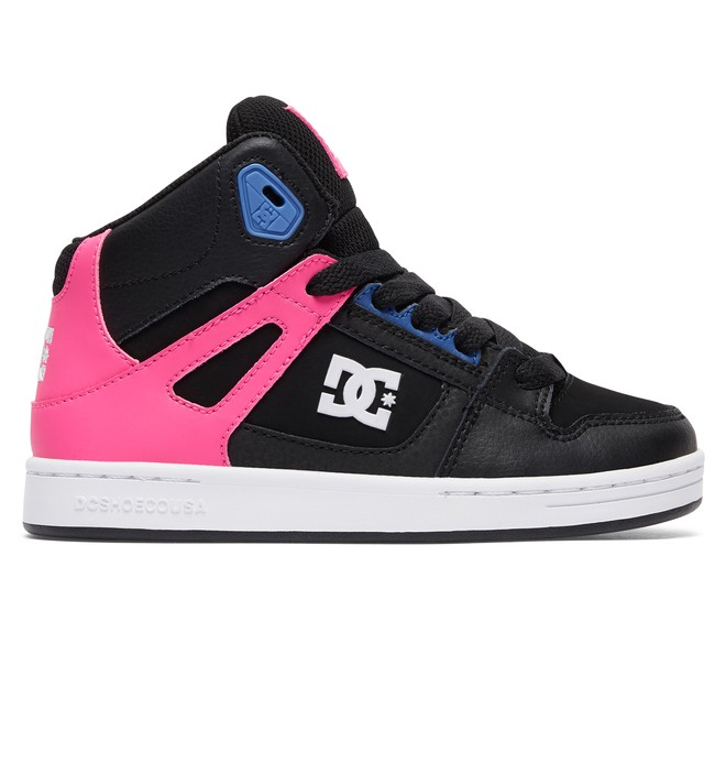 0 Kid's Rebound SE High Top Shoes Pink ADGS100204 DC Shoes