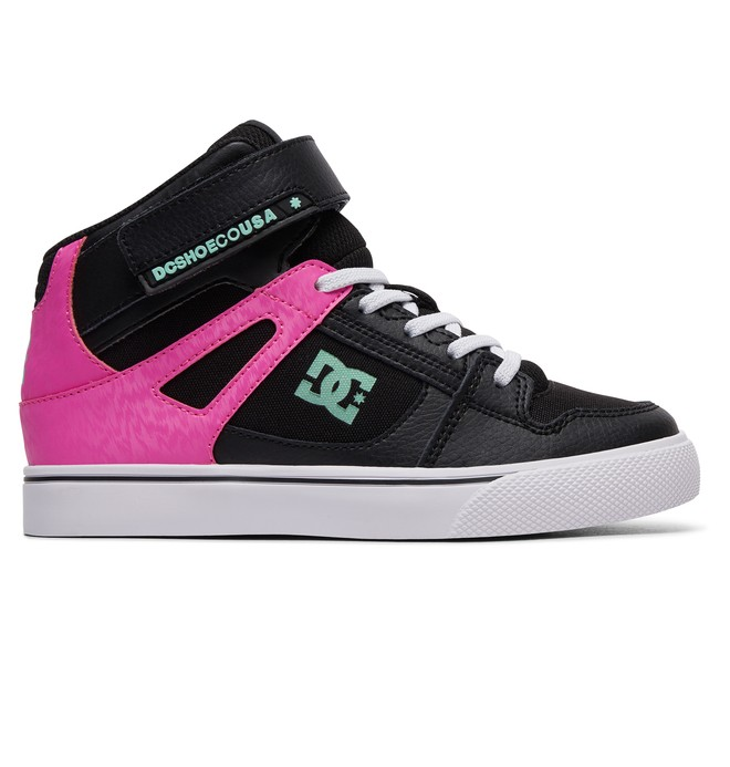 0 Girl's Pure High-Top Shoes Black ADGS300092 DC Shoes