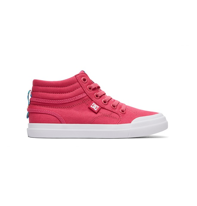 0 Girl's 8-16 Evan HI SP High-Top Shoes Red ADGS300278 DC Shoes