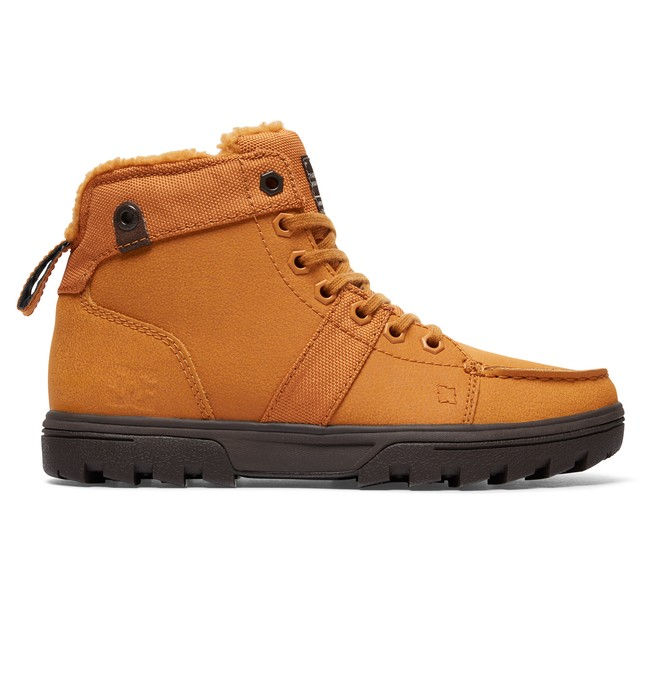 0 Woodland - Lace-Up Boots for Women Beige ADJB700003 DC Shoes