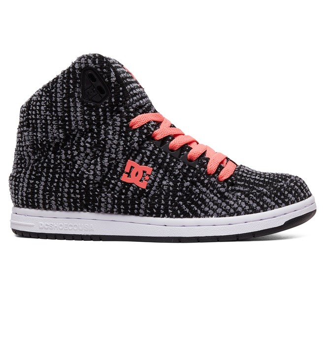 0 Women's Pure TX SE High Top Shoes Black ADJS100115 DC Shoes