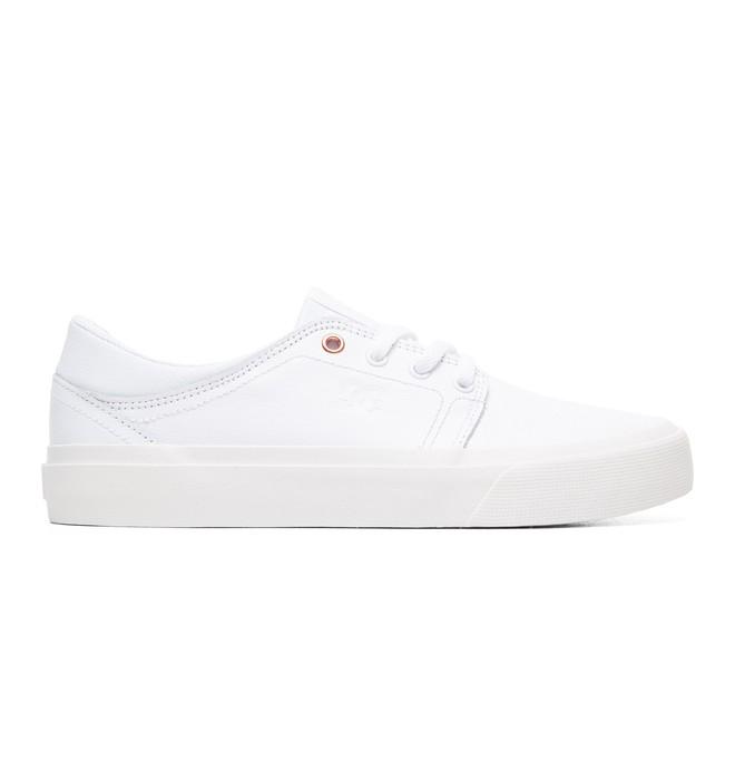 0 Women's Trase LE Leather Shoes White ADJS300145 DC Shoes
