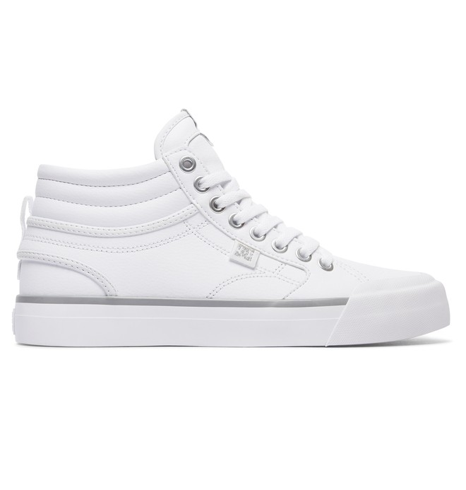 0 Women's Evan Hi High Top Shoes White ADJS300147 DC Shoes