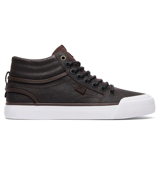 0 Evan Hi - High-Top Leather Shoes for Women Brown ADJS300189 DC Shoes
